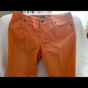 Dana Buchman Denim Orange Ankle Pant